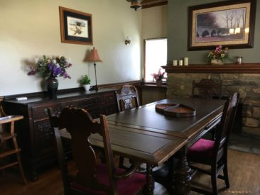 Dining room at Guest House at Cedar Lake, Winterset IA